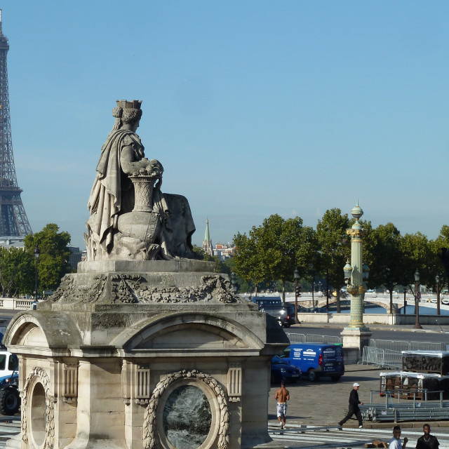 """Place de la Concorde and Eiffel Tower Paris"" stock image"