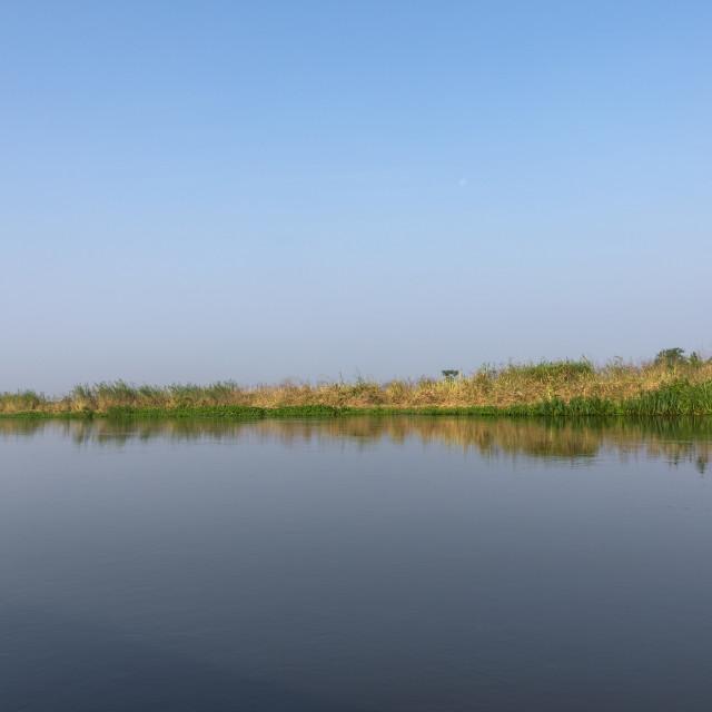 """River Nile view, Central Equatoria, Terekeka, South Sudan"" stock image"