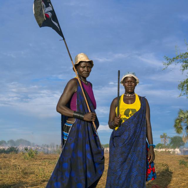 """Mundari tribe women celebrating a wedding, Central Equatoria, Terekeka, South..."" stock image"
