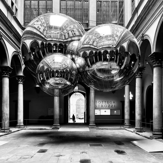 """Palazzo Strozzi, Florence"" stock image"
