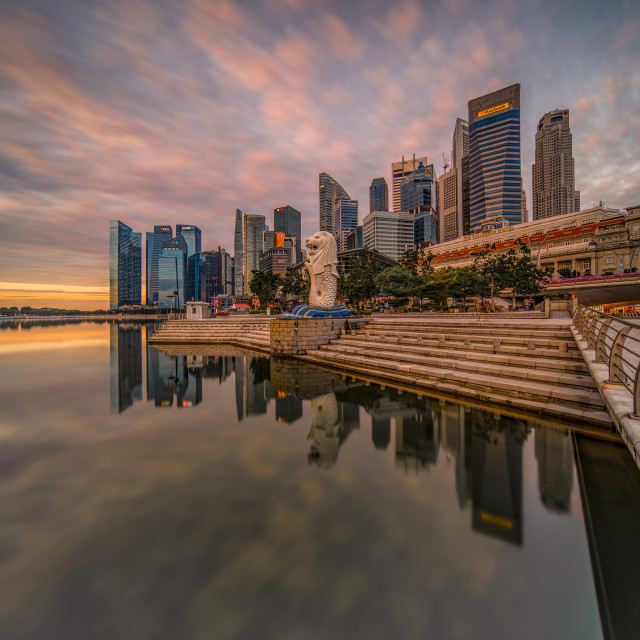 """The Singapore Merlion"" stock image"