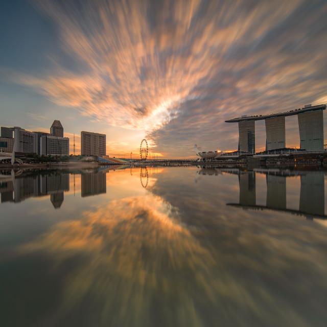 """Mirror sunrise"" stock image"