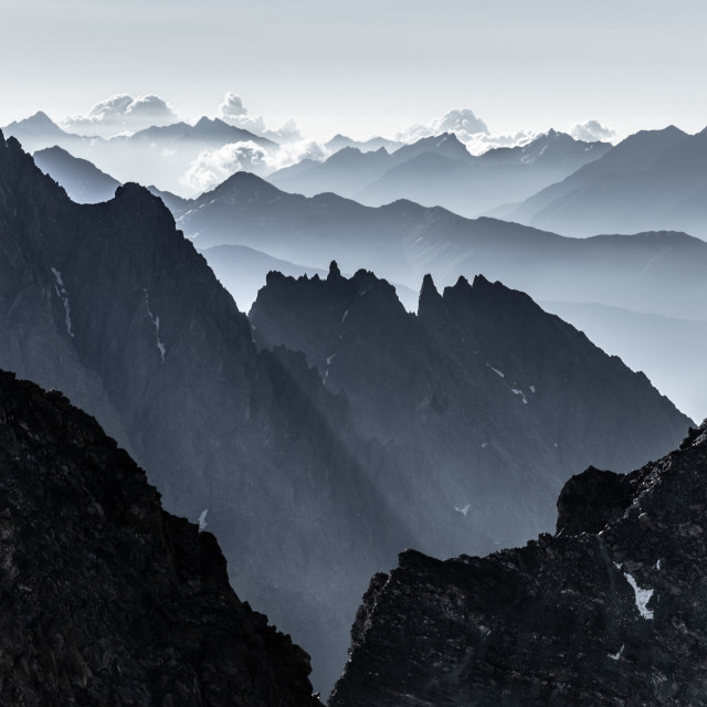 """Mordor in the Alps"" stock image"