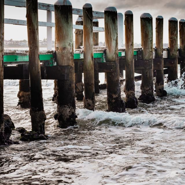 """Beaumaris Pier"" stock image"