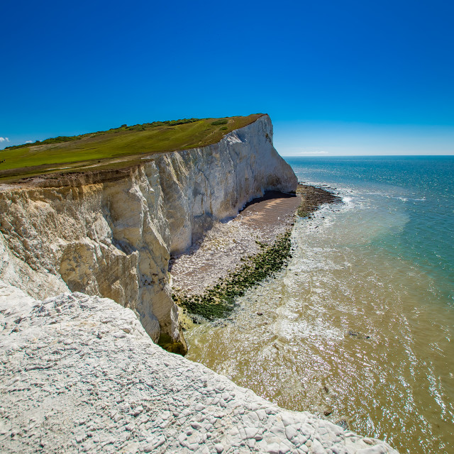 """White cliffs in England"" stock image"