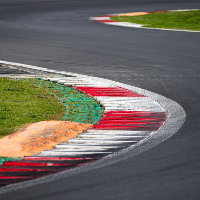 """Double turn chicane asphalt track motor sport circuit surface le"" stock image"