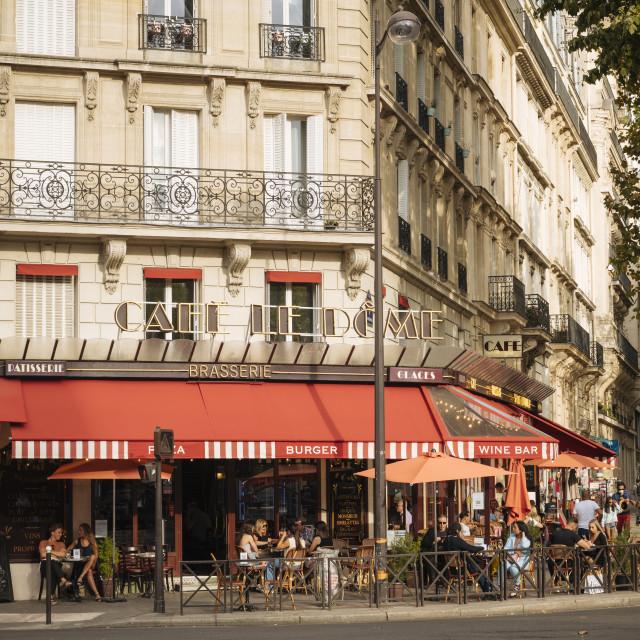 """""""Exterior of Brasserie, Paris, Île-de-France, France, Europe"""" stock image"""