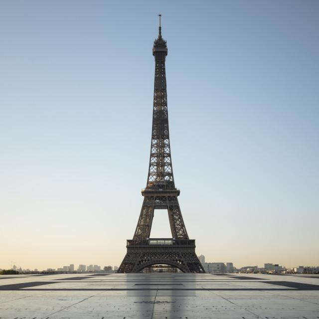 """""""Eiffel Tower, Palais de Chaillot, Paris, Île-de-France, France, Europe"""" stock image"""
