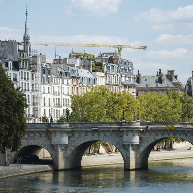 """""""River Seine, Palais de la Cité, Paris, Île-de-France, France, Europe"""" stock image"""