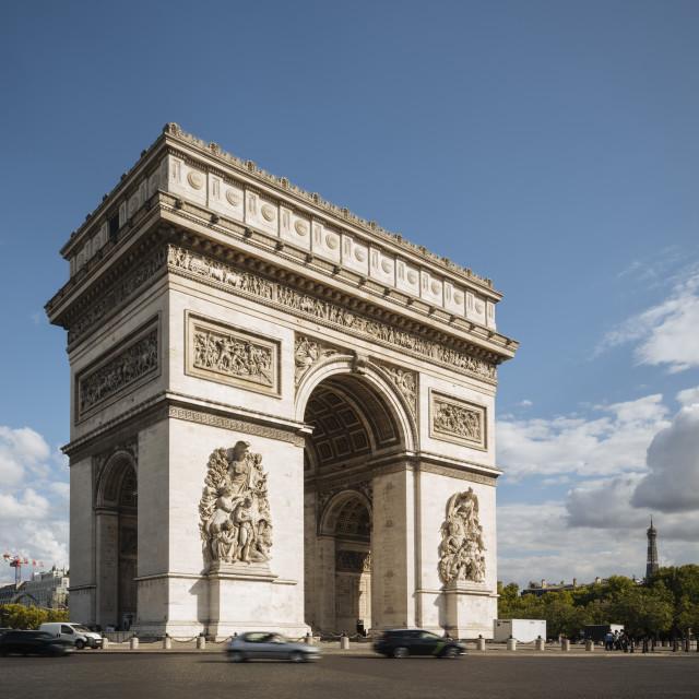 """""""Arc de Triomphe de l'Étoile, Paris, Île-de-France, France, Europe"""" stock image"""