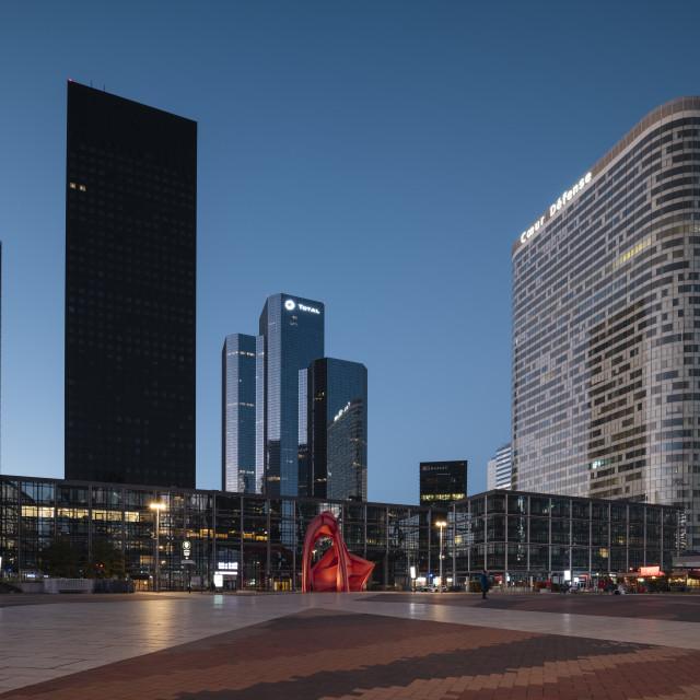 """""""La Défense, Puteaux, Paris, Île-de-France, France, Europe"""" stock image"""