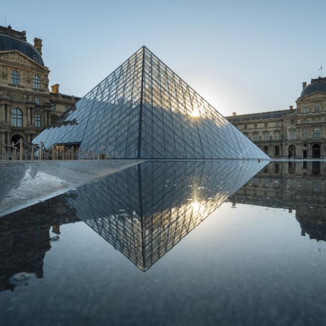 """""""Louvre Museum at dawn, Paris, Île-de-France, France, Europe"""" stock image"""