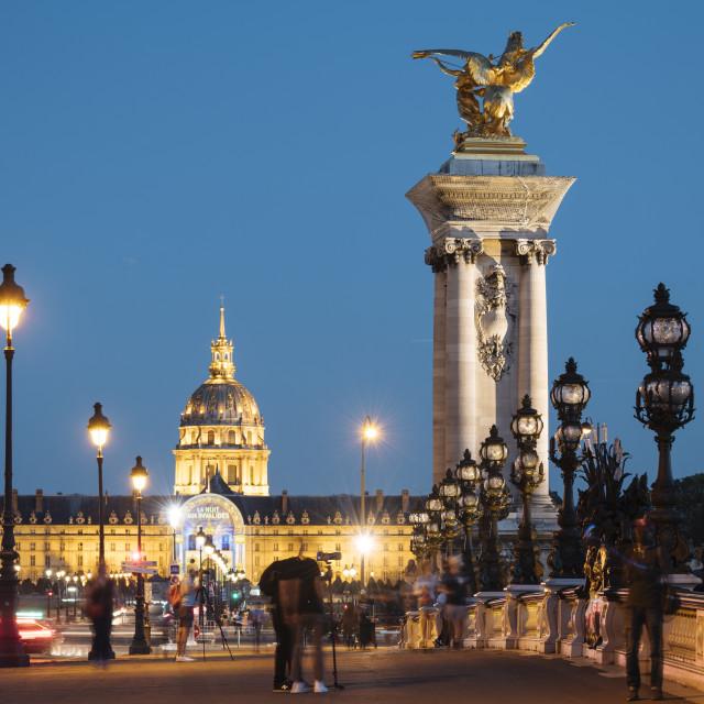 """""""Pont Alexandre III, Les Invalides, Paris, Île-de-France, France, Europe"""" stock image"""