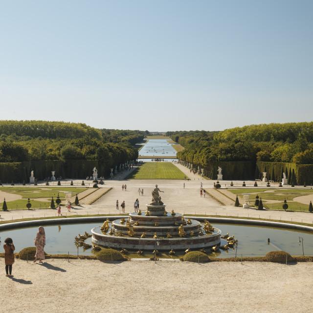 """""""Gardens, Palace of Versailles, Paris, Île-de-France, France, Europe"""" stock image"""