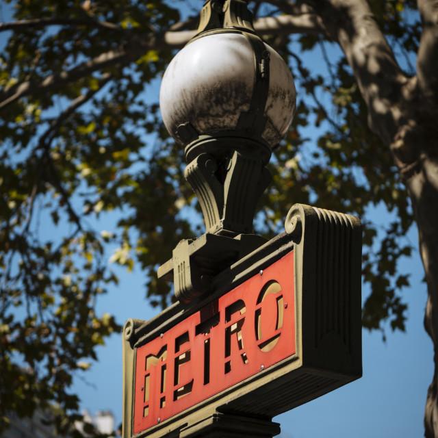"""""""Metro Sign, Beaugrenelle, Paris, Île-de-France, France, Europe"""" stock image"""