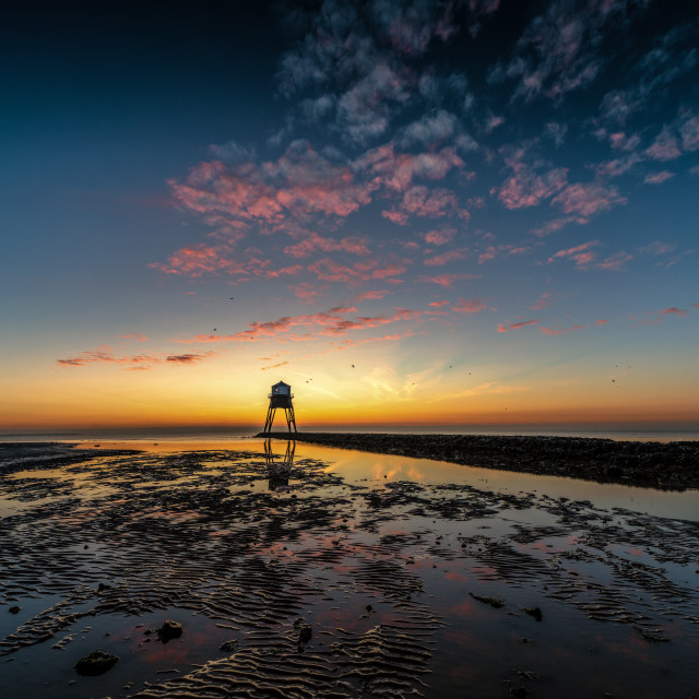 """""""Candy Floss Clouds at Dovercourt"""" stock image"""