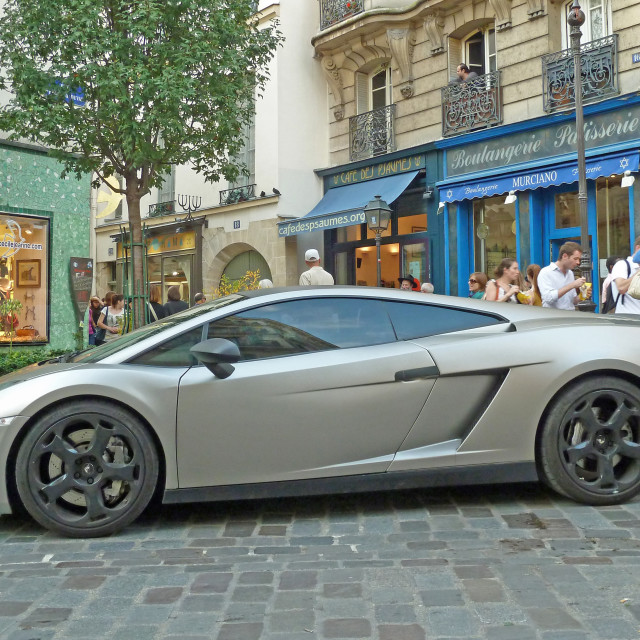 """""""Lunch in style in the Marais district Paris France"""" stock image"""