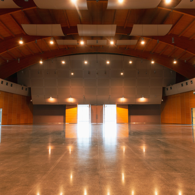 """""""Great conference hall wood architecture classic style empty no p"""" stock image"""