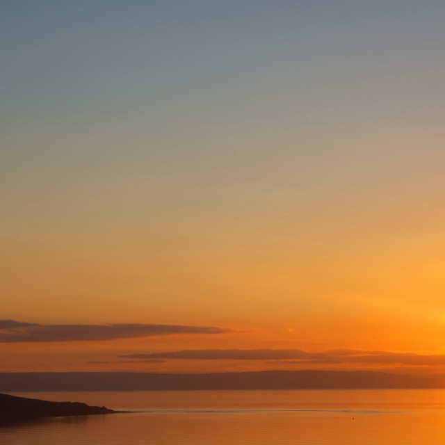 """""""Sunset over Brean Down Weston Bay"""" stock image"""