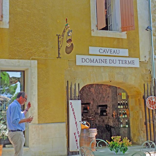 """""""Wine village of Gigondas Provence France"""" stock image"""