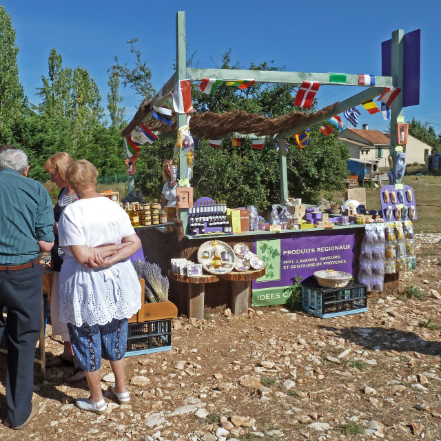 """""""Lavender honey stall close to Sault Provence"""" stock image"""