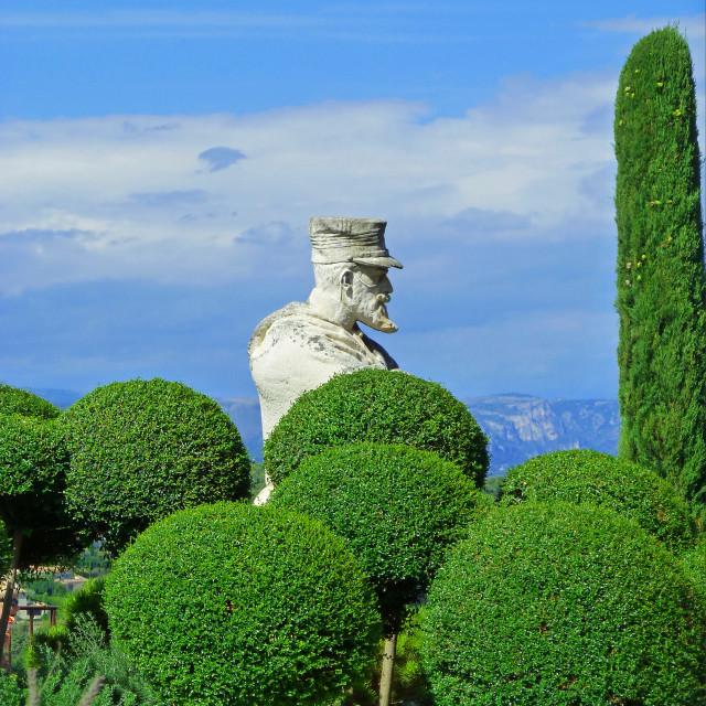 """""""Statue of Commander Lamy in Mougins France"""" stock image"""