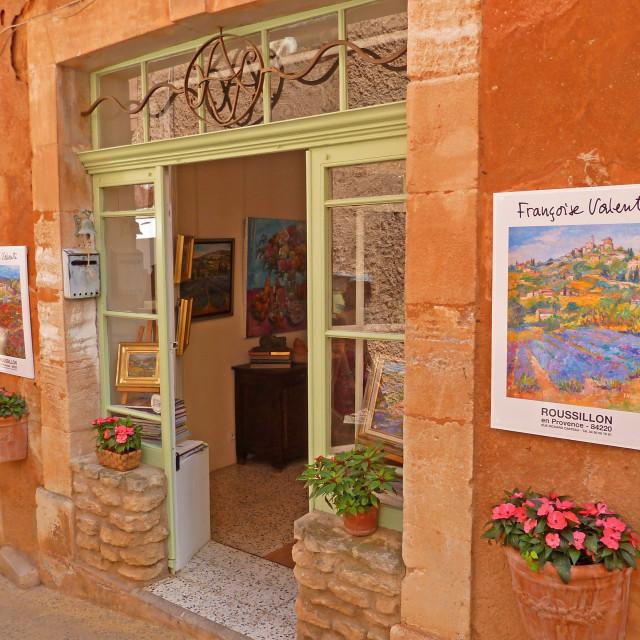 """Artist Studio Roussillon Provence France"" stock image"