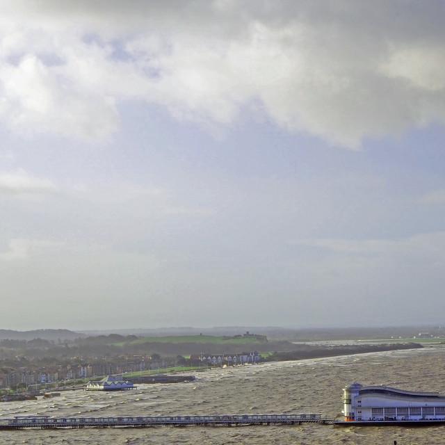 """Sinking Pier Weston Super Mare Somerset"" stock image"
