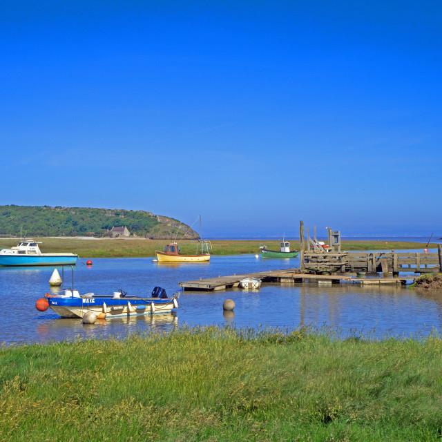"""Axe Estuary Somerset"" stock image"