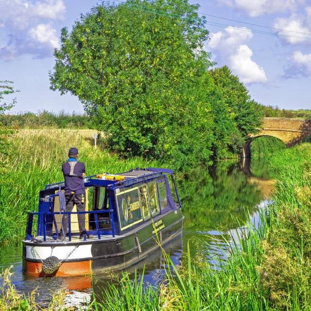 """""""Bridgewater Taunton Canal Somerset"""" stock image"""