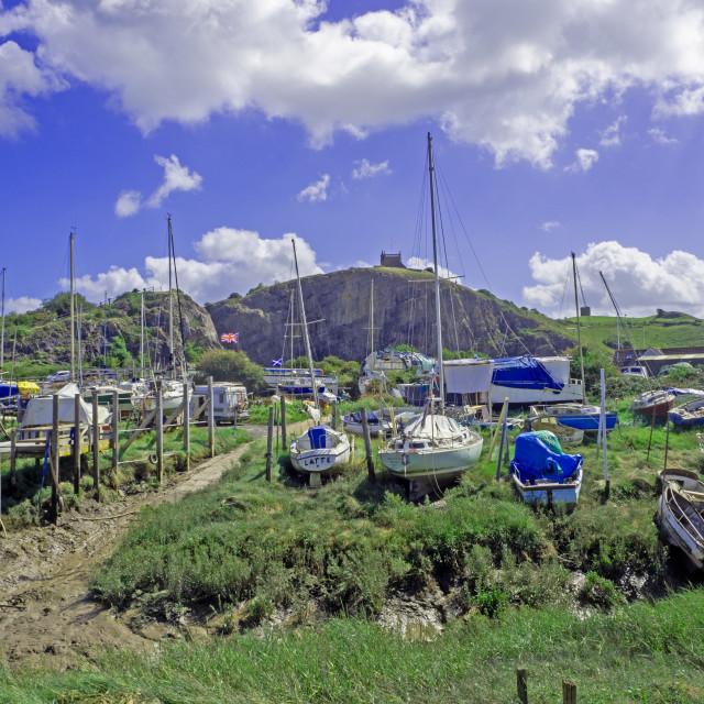 """Uphill Boatyard Weston Super Mare Somerset"" stock image"