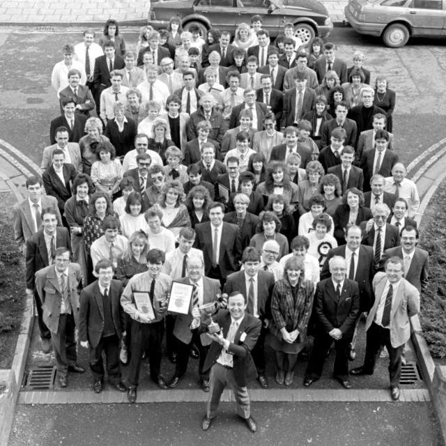 """Evening Telegraph Staff (1989)"" stock image"