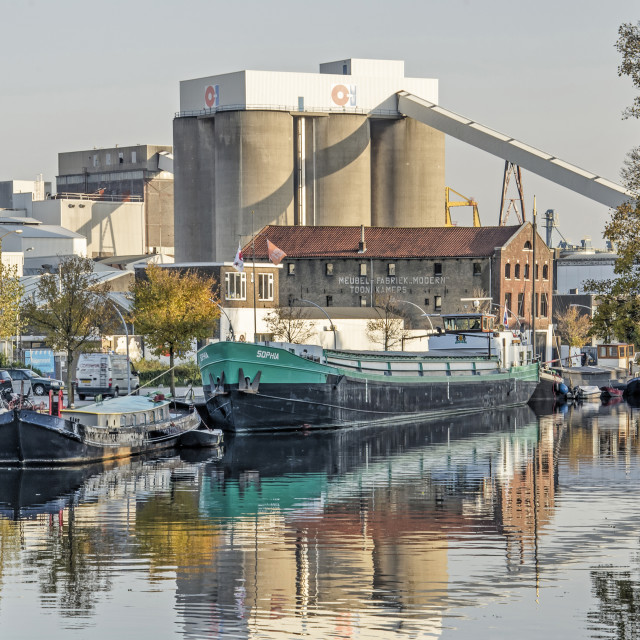 """Schiedam industry and history"" stock image"