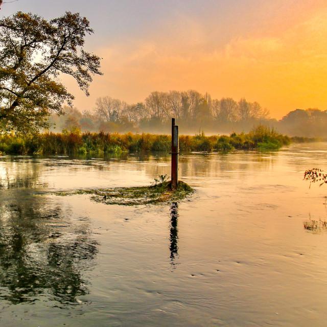 """""""Mansbridge Sunrise"""" stock image"""