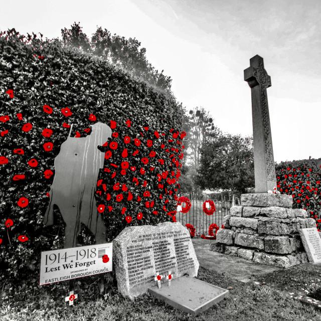"""West End War Memorial"" stock image"
