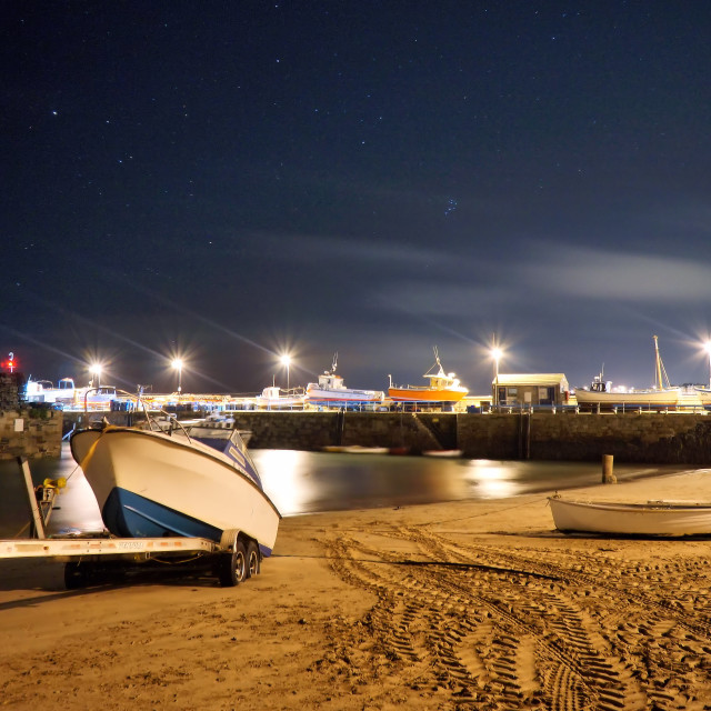 """""""Stars above the harbour."""" stock image"""