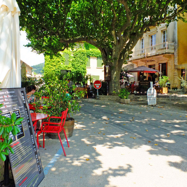 """""""The village of Gigondas in the Vaucluse Provence France"""" stock image"""