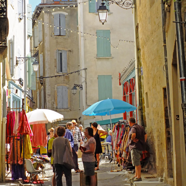 """""""Old part of the town of Forcalquier Provence"""" stock image"""