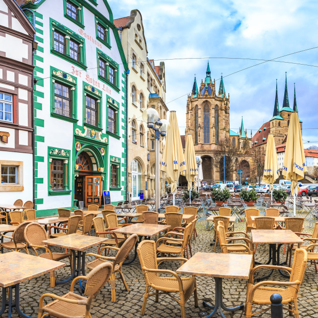 """The Erfurt Cathedral"" stock image"