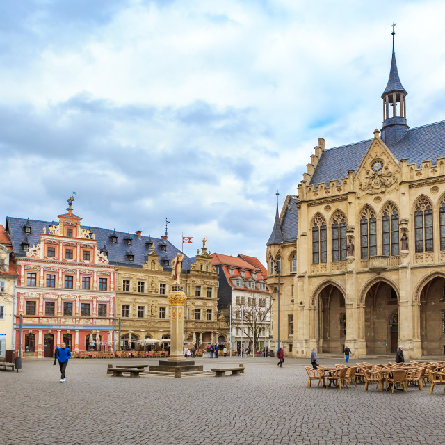 """The Rathaus of Erfurt"" stock image"