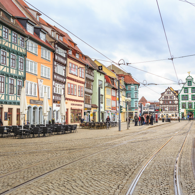 """city scape of Erfurt"" stock image"