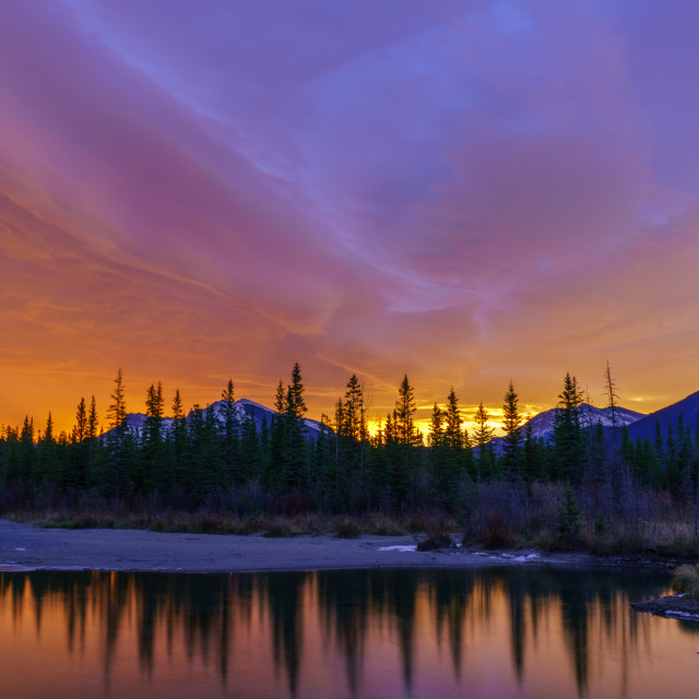 """""""Canmore Dawn"""" stock image"""