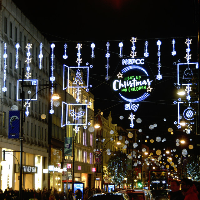 """London Christmas Lights Oxford Street"" stock image"