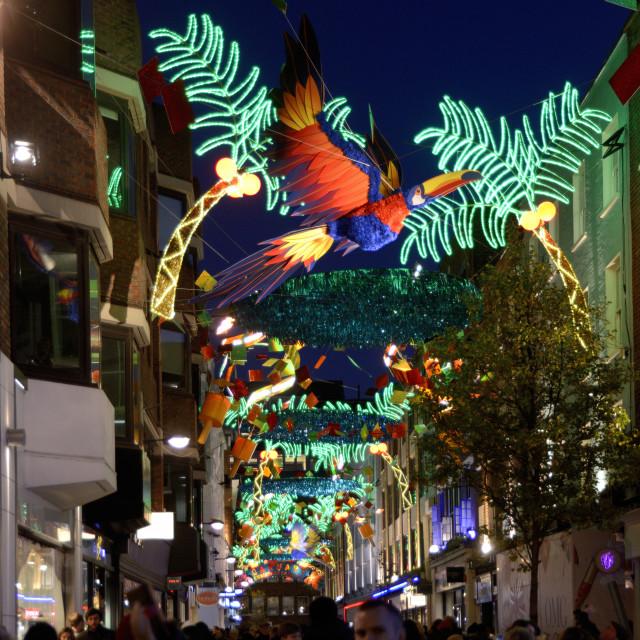 """London Christmas Lights Carnaby Street"" stock image"
