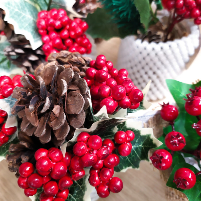"""""""Festive decorations in the covid period of Christmas 2020"""" stock image"""