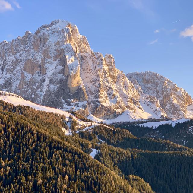 """The majestic Sasso Lungo, Italian Alps."" stock image"