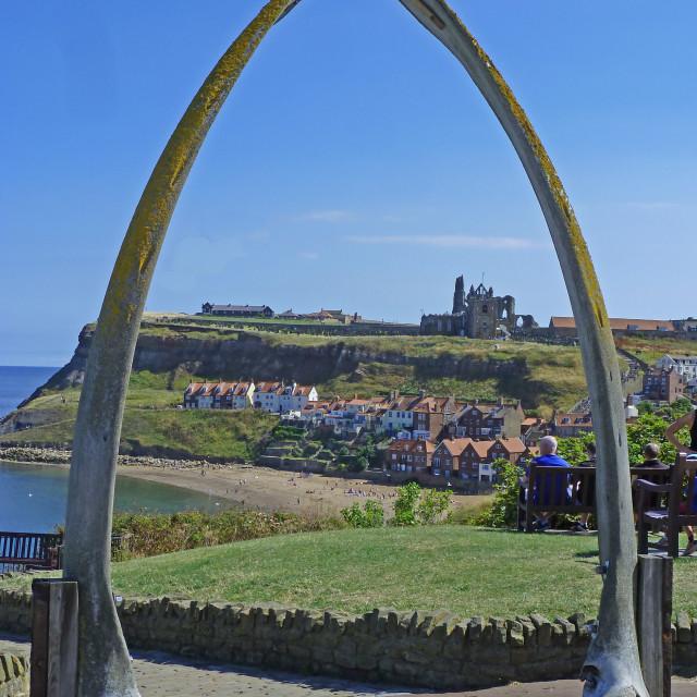 """Whitby on the North Yorkshire coast England"" stock image"