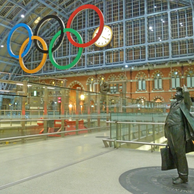 """St Pancras International Eurostar terminal London"" stock image"