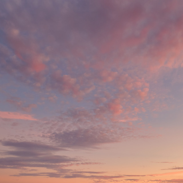 """""""Beautiful multi colored sunset view. Full frame cloudy sky backg"""" stock image"""