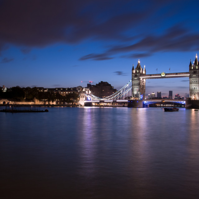 """Tower Bridge at Twilight"" stock image"